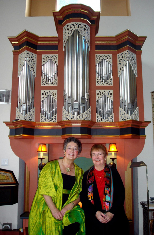 Sally Mosher with Dr. Frances Nobert, 2/11/2012